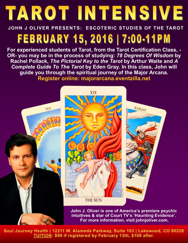 Tarot Intensive with John J Oliver | Lakewood, CO @ Soul Journey Health | Lakewood | Colorado | United States