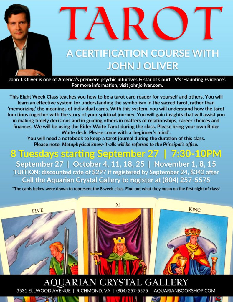 Tarot Certification with John J Oliver @ Aquarian Crystal Gallery | Richmond, VA | Richmond | Virginia | United States