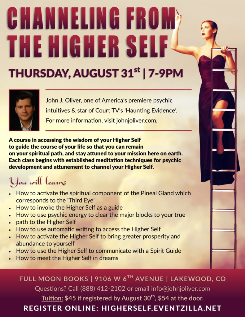 Channeling from the Higher Self with John J Oliver @ Full Moon Books | Lakewood, CO