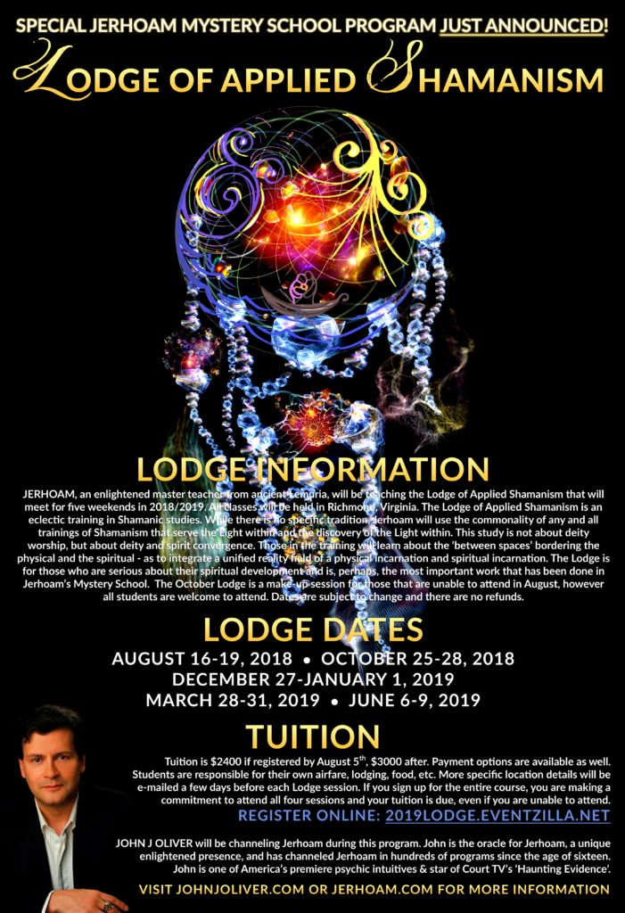 The Lodge of Applied Shamanism 2018/2019 @ Richmond, VA