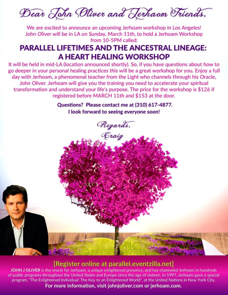 Parallel Lifetimes & the Ancestral Lineages: A Heart Healing Workshop in LA @ Given upon registration