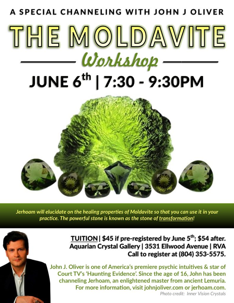 Jerhoam Crystal Series: Moldavite @ Aquarian Crystal Gallery | Richmond | Virginia | United States