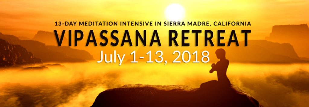 Vipassana 13 Day Retreat with John J Oliver | Sierra Madre, CA @ Sierra Madre, CA - location details given upon registration