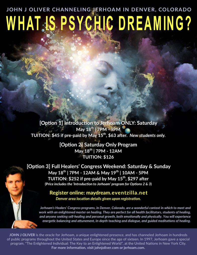 Jerhoam's Healers' Congress:  What is Psychic Dreaming? @ Denver, CO