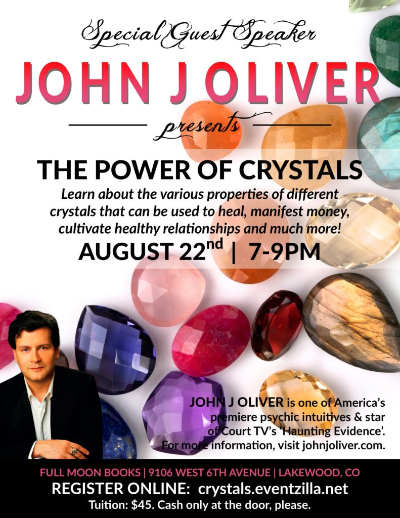 The Power of Crystals with John J Oliver @ Full Moon Books