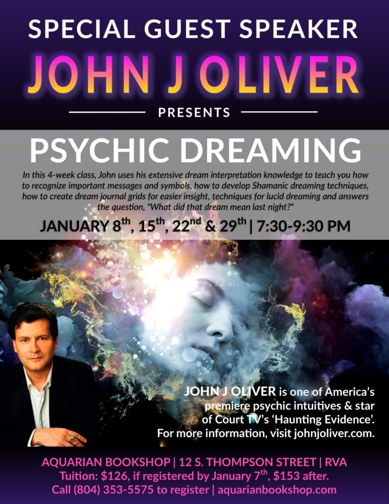 Psychic Dreaming with John J Oliver @ Aquarian Bookshp